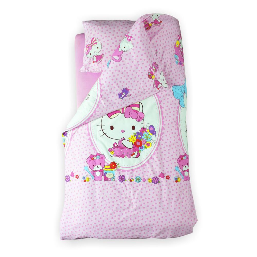 Lenjerie pat copii Hello Kitty 2-12 ani
