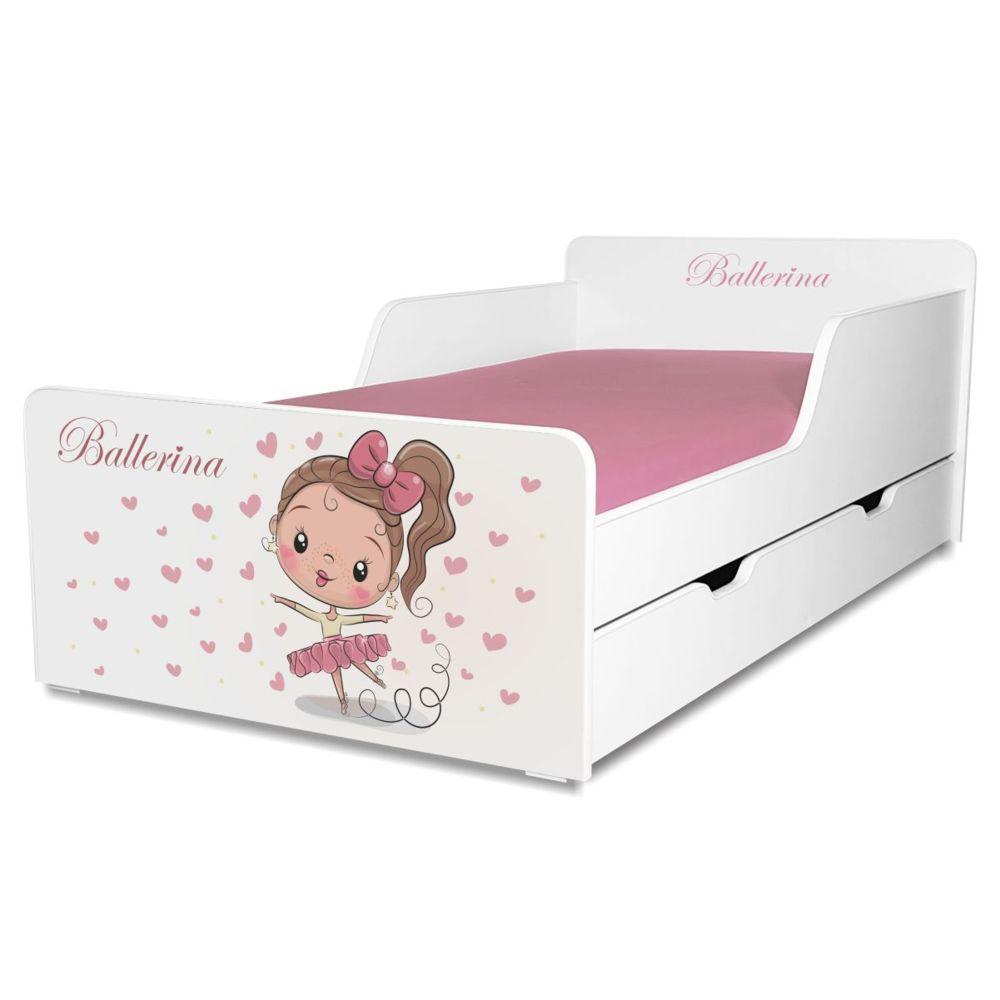 Pat copii Balerina 2-12 ani cu sertar