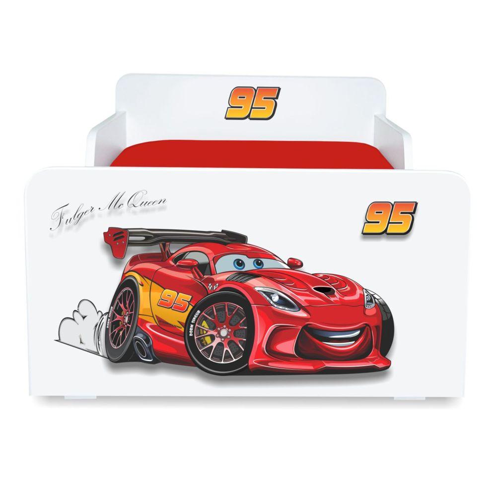 Pat copii Fulger McQueen 2-12 ani cu sertar