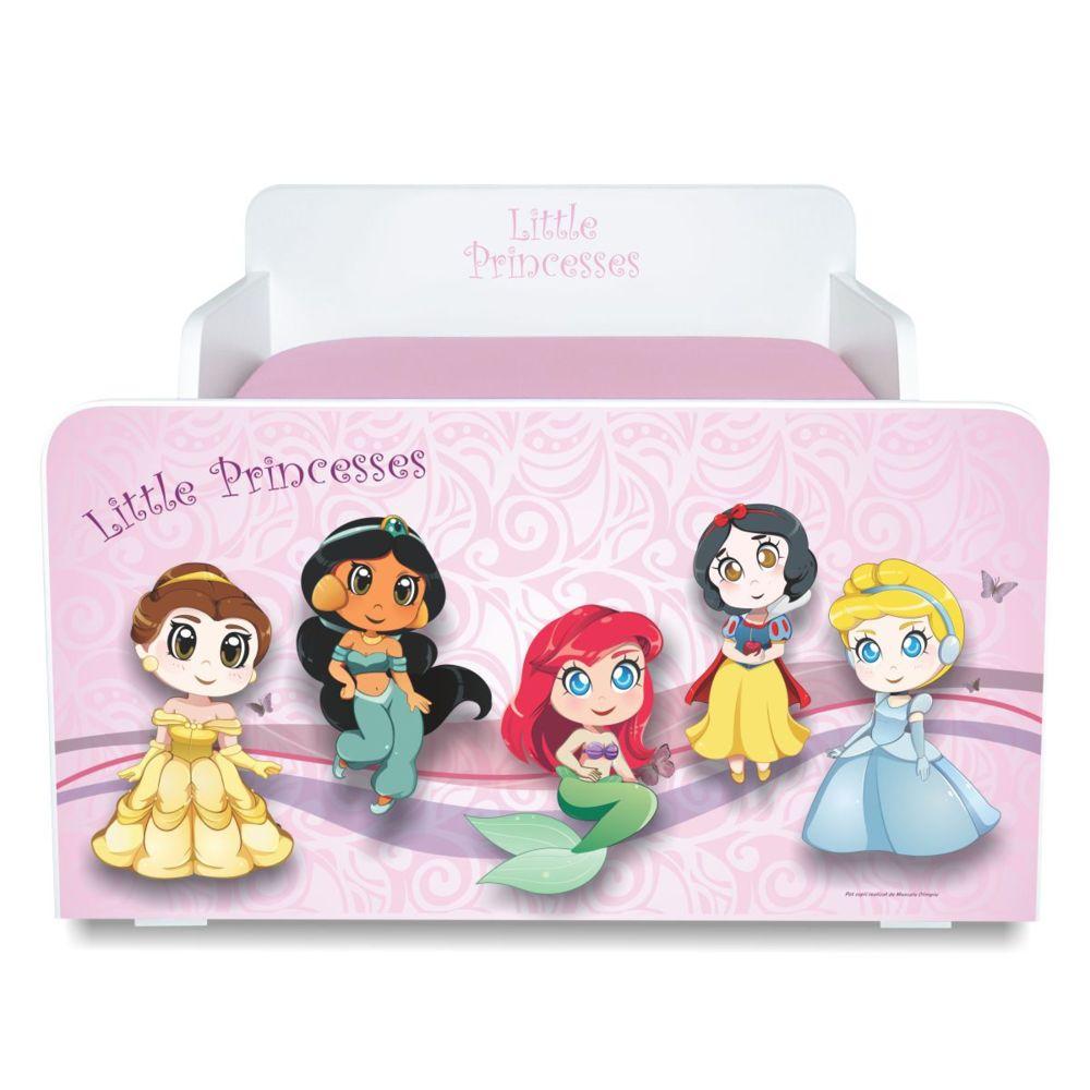 Pat copii Little Princesses 2-8 ani cu saltea cadou