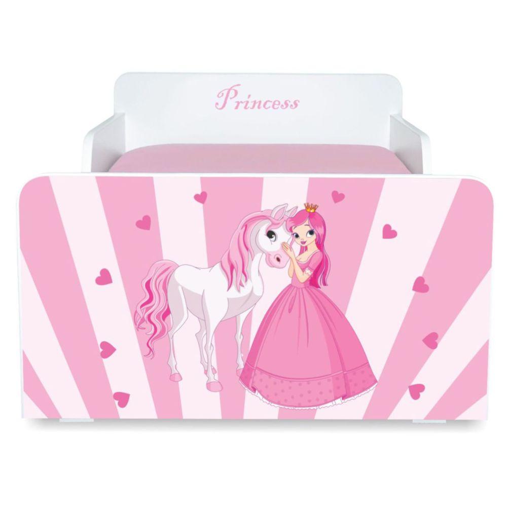 Pat copii Princess 2-8 ani cu saltea cadou