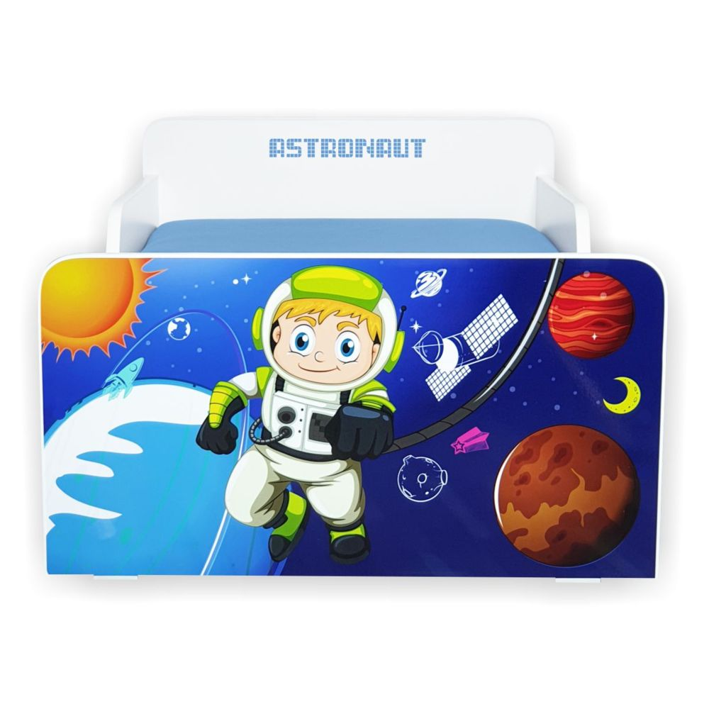 Pat copii Start Astronaut 2-8 ani cu saltea cadou
