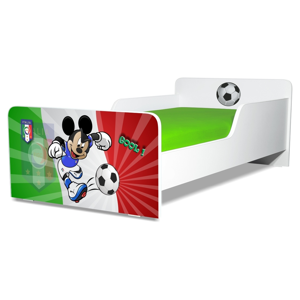 Pat copii Start Fotbal Italia 2-12 ani cu saltea cadou