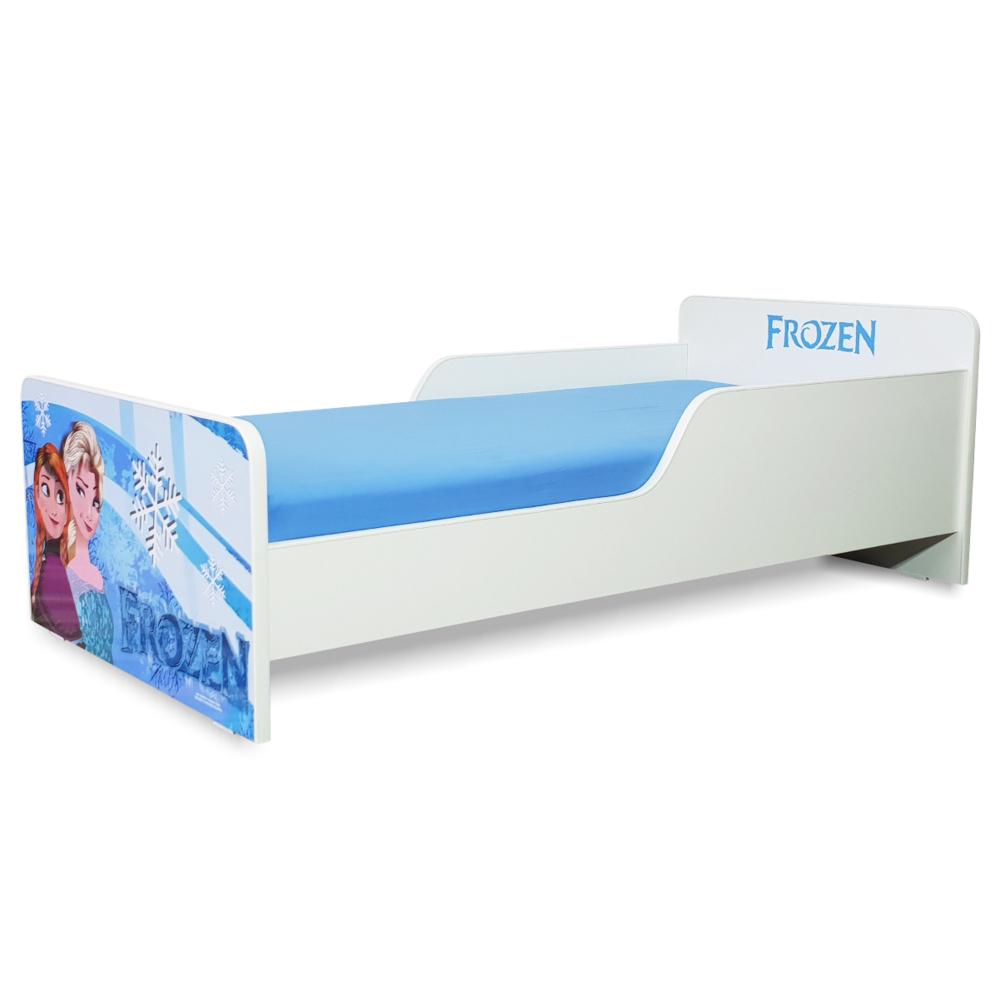 Pat copii Start Frozen 2-8 ani cu saltea cadou