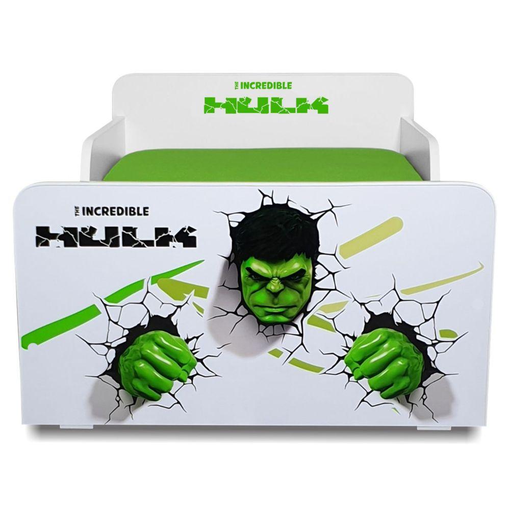 Pat copii Start Hulk 2-8 ani cu saltea cadou