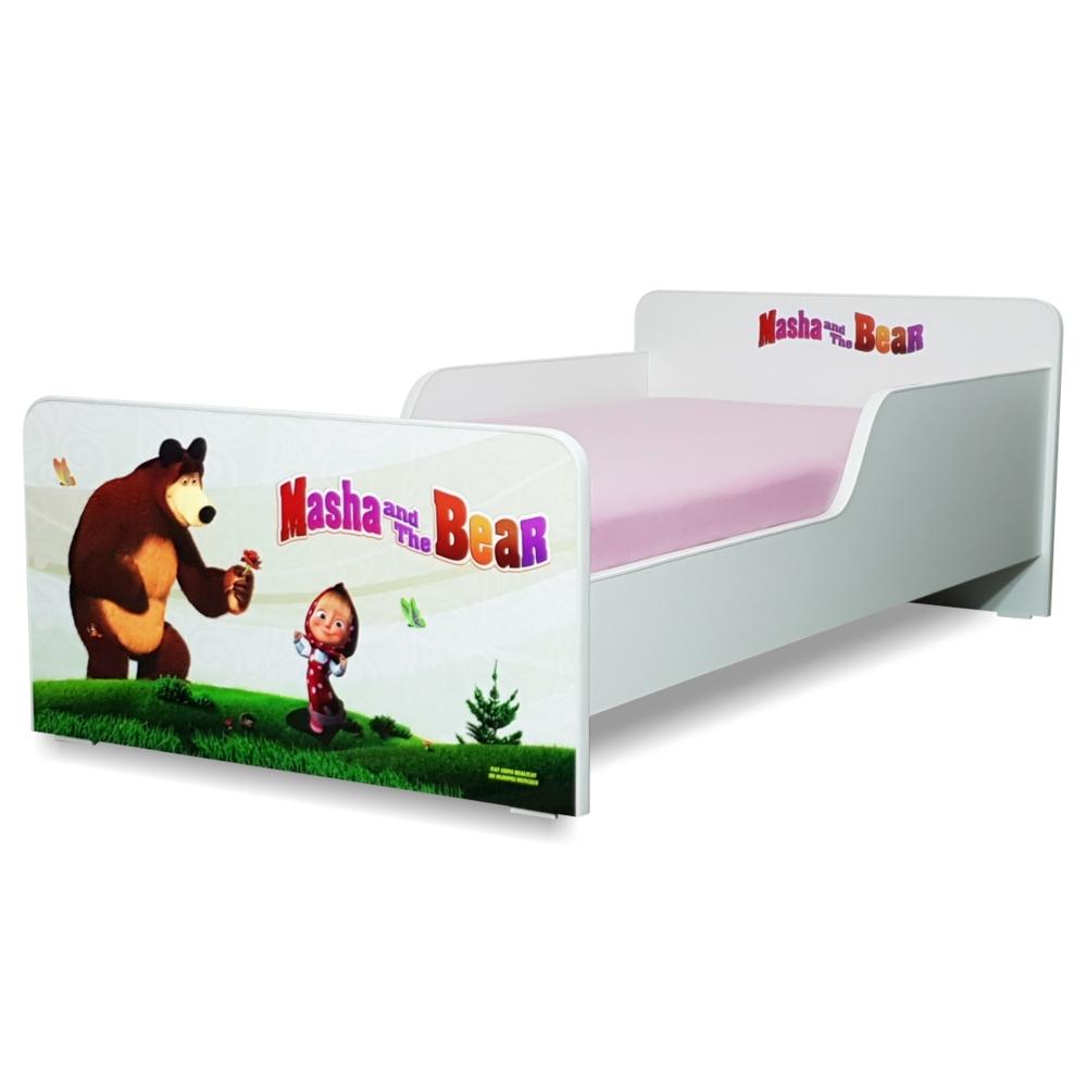 Pat copii Start Masha 2-12 ani cu saltea cadou