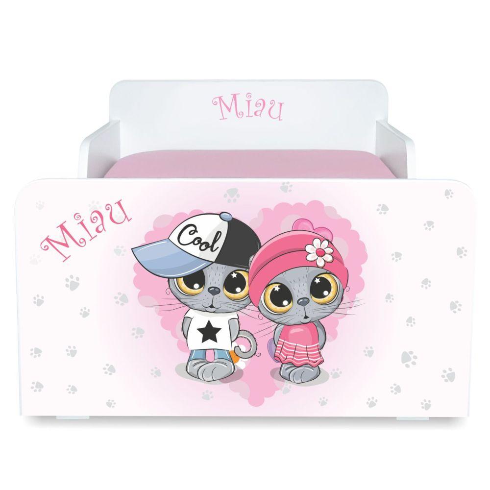 Pat copii Start Miau 2-8 ani cu saltea cadou