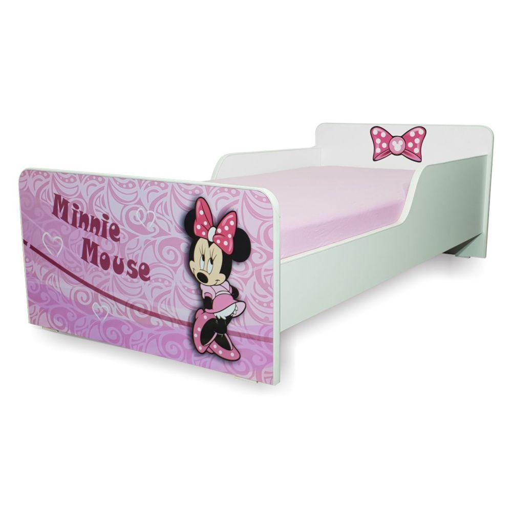 Pat copii Start Minnie 2-12 ani cu saltea cadou