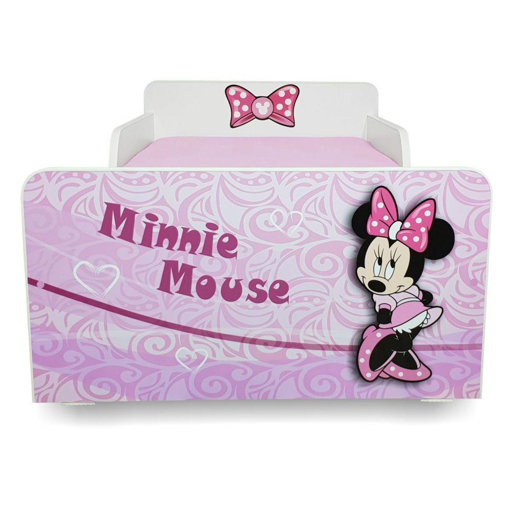 Pat copii Start Minnie 2-8 ani cu saltea cadou