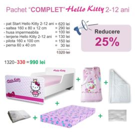 Pachet Promo Complet Start Hello Kitty 2-12 ani
