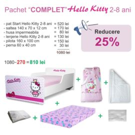 Pachet Promo Complet Start Hello Kitty 2-8 ani