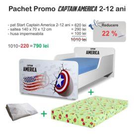 Pachet Promo Start Captain America 2-12 ani