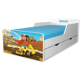 Pat copii Buldozer 2-12 ani cu sertar
