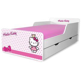 Pat copii Hello Kitty 2-12 ani cu sertar