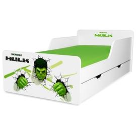 Pat copii Hulk 2-12 ani cu sertar