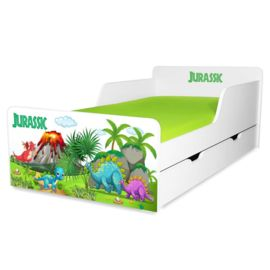Pat copii Jurassic 2-12 ani cu sertar