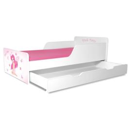 Pat copii Pink Fairy 2-12 ani cu sertar