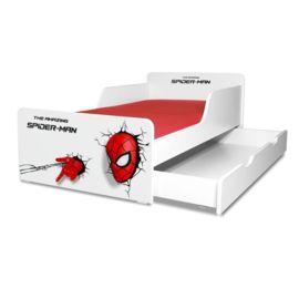 Pat copii Spiderman 2-12 ani cu sertar