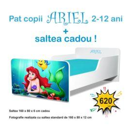 Pat copii Start Ariel 2-12 ani cu saltea cadou