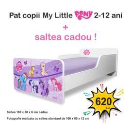 Pat copii Start Pony 2-12 ani cu saltea inclusa