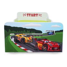 Pat copii Start Racing 2-8 ani cu saltea cadou