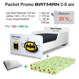 Pchet promo Pat copii Start Batman 2-8 ani