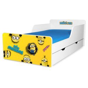 Pat copii Minions 2-12 ani cu sertar