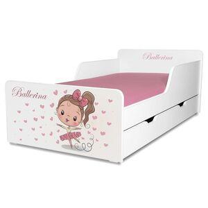 Pat copii Balerina 2-12 ani cu sertar-modificat