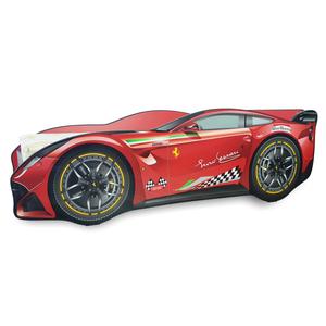 Pat copii Ferrari Tech pentru saltea 160 x 70